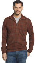 Arrow Men's Classic-Fit Windowpane Fleece Quarter-Zip Sweater