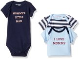 Luvable Friends Baby Boys' Bodysuit Pack of 3
