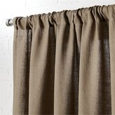 "CB2 Taupe Linen Curtain Panel 48""X108"""