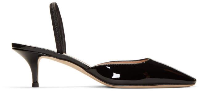 Giuseppe Zanotti Black Patent Notte 50 Heels