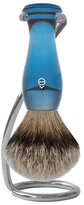 eShave Silvertip Badger Hair Shaving Brush with Twist Shaving Stand