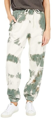 Lucky Brand High-Waisted Relaxed Joggers (Whisper White) Women's Casual Pants