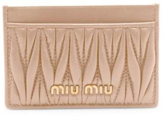 Miu Miu Matelasse Leather Card Case