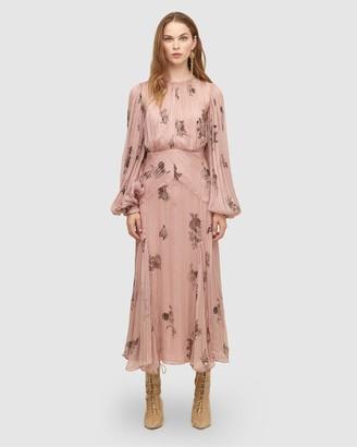 Lover Daydream Silk Midi Dress