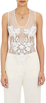 Stella McCartney Women's Embroidered Tank-WHITE, NUDE