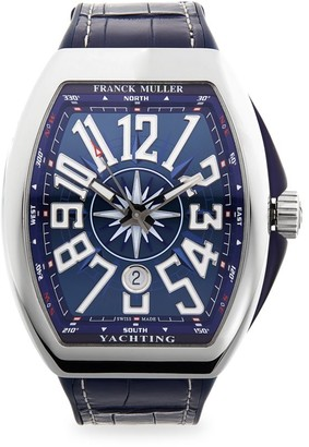 Franck Muller Yachting Vanguard Stainless Steel & Leather Strap Watch