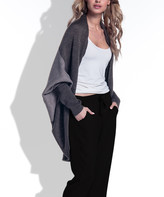 Fimfi Women's Cardigans Espresso - Espresso Color Block Wool-Blend Cocoon Cardigan - Women