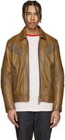 DSQUARED2 Camel Studded Leather Jacket