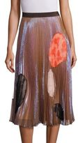 Christopher Kane Metallic Pleated Cutout Skirt
