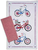 Sur La Table Fourth of July Bicycle & Gingham Kitchen Towels