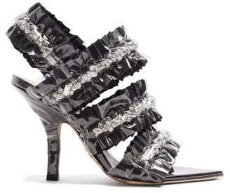 Midnight 00 Crystal-embellished Satin Sandals - Womens - Black