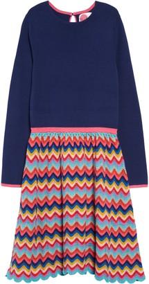 Boden Mini Rainbow Knit Long Sleeve Dress