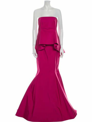 J. Mendel Silk Long Dress Pink