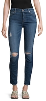 7 For All Mankind Cotton Ankle Skinny Jeans