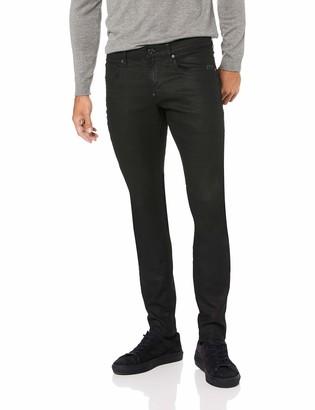 G Star Men's Revend Super Slim Fit Pant in Black Print Stretch Denim