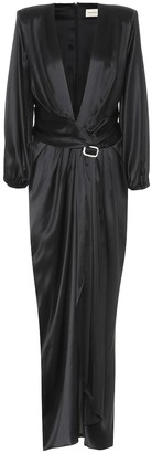Alexandre Vauthier Stretch silk-satin gown