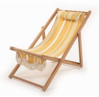 Business & Pleasure Co. Business & Pleasure Sling Chair - Vintage Yellow Stripe