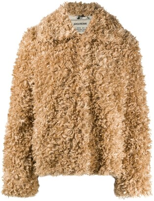 Zadig & Voltaire Faux-Fur Single Breasted Jacket