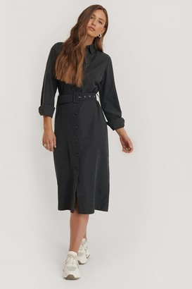 NA-KD Front Button Belted Dress