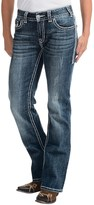 Rock & Roll Cowgirl Embroidered Rhinestone Jeans - Mid Rise, Bootcut (For Women)
