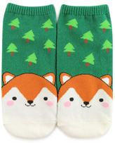 Forever 21 Fox & Forest Ankle Socks