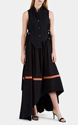 Loewe Women's Striped Cotton High-Low Shirtdress - Gray