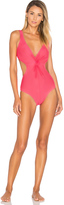 Shoshanna Cut Out Twist One Piece