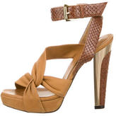 Barbara Bui Snakeskin Multistrap Sandals