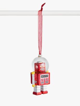 John Lewis & Partners Pop Art Robot Snow Globe Tree Decoration, Red
