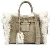 Roger Vivier Cabas Pilgrim De Jour Medium Handbag, Beige