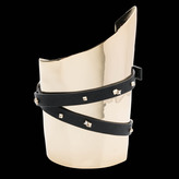 Alexis Bittar Liquid Gold Leather Wrapped Bondage Cuff Bracelet