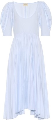 KHAITE Caitlin cotton poplin dress