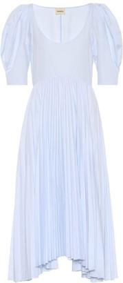 KHAITE Caitlin cotton poplin dress