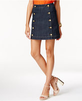 MICHAEL Michael Kors Embellished Denim Mini Skirt