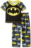 Batman Toddler Boys' Puff Screen Logo 2 Pc Sleepwear Set