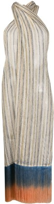 Emilio Pucci Fringed Sarong Beach Dress