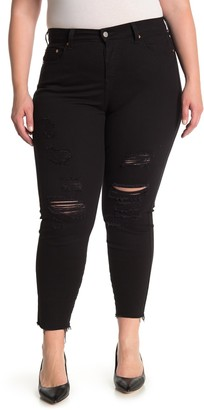 Levi's Wedgie Distressed Skinny Jeans (Plus Size)