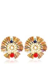 Dolce & Gabbana Pom Pom & Raffia Earrings