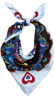 Mary Katrantzou Heart Flames-print silk-twill scarf