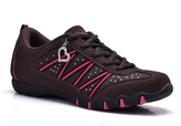 Brown & Fuchsia Athletic Sneaker