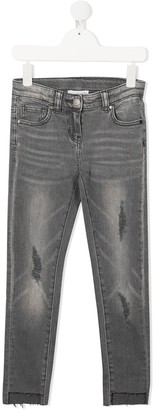 Stella Mccartney Kids Distressed-Effect Skinny Jeans