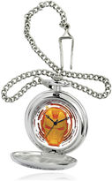 Marvel Iron Man Mens Silver-Tone Pocket Watch