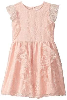 BCBGMAXAZRIA Girls Lace Ruffle Dress (Big Kids)