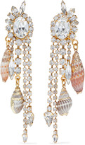 Thumbnail for your product : Elizabeth Cole Holland 24-karat Gold-plated, Swarovski Crystal And Faux Shell Earrings