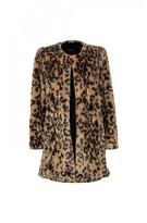 DECJUBA Susie Print Faux Fur Coat