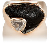 Dezso by Sara Beltran Women's White Diamond & Fossilized Shark-Tooth Ring