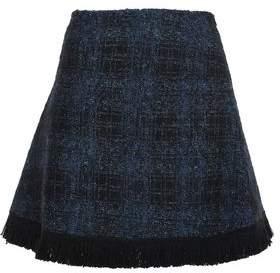 Love Moschino Fringed Tweed Mini Skirt