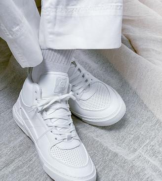 ASOS DESIGN high top sneakers in white