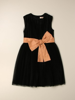 Elisabetta Franchi Dress In Tulle With Bow