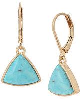 Kenneth Cole New York Geometric Turquoise Drop Earrings